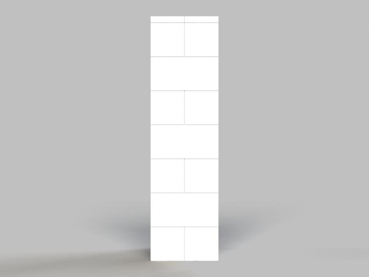 109cm Deko-Säule - Seitenansicht