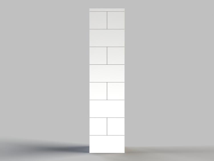 124,5cm Deko-Säule - Seitenansicht