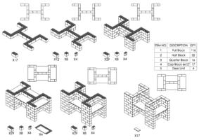 4-fach-Schreibtisch-Kombination - Schritt-für-Schritt Instruktionen