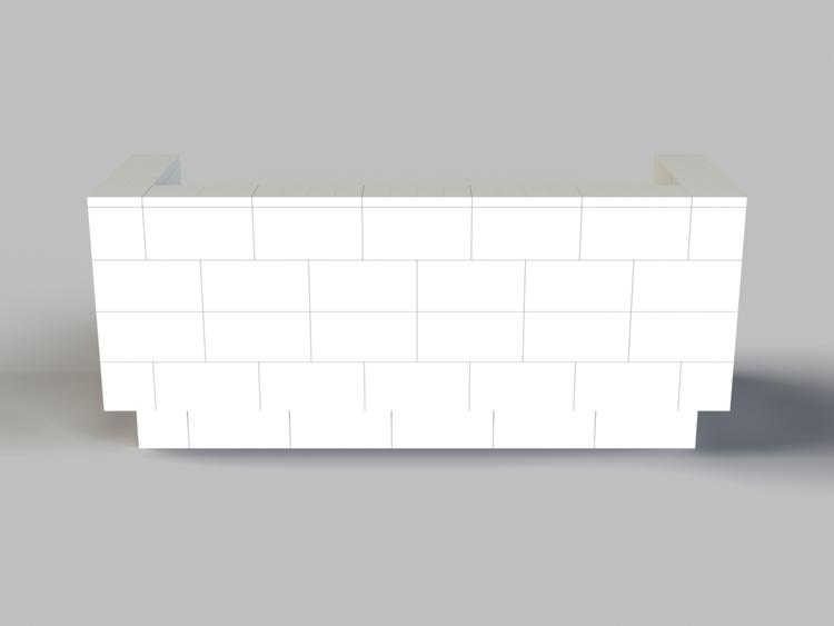 182 cm Sofa mit Überstand - Rückansicht