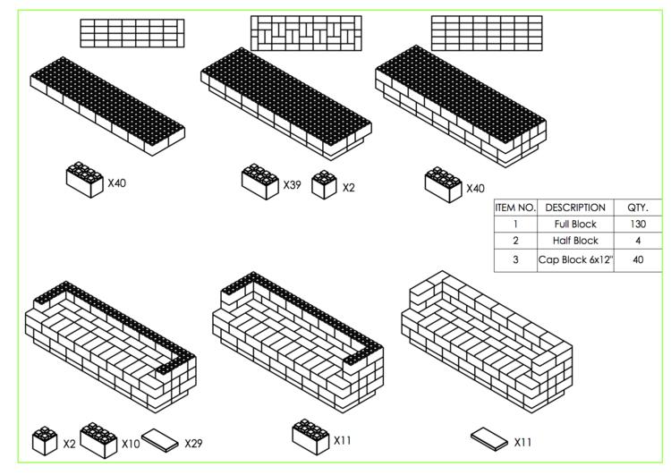 244 cm Sofa mit Überstand - Schritt-für-Schritt Instruktionen