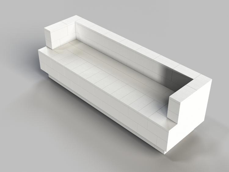 244 cm Sofa mit Überstand