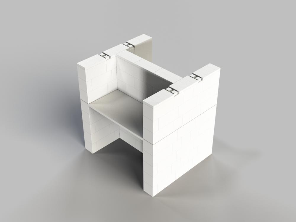 Doppel-Schreibtisch-Kombination
