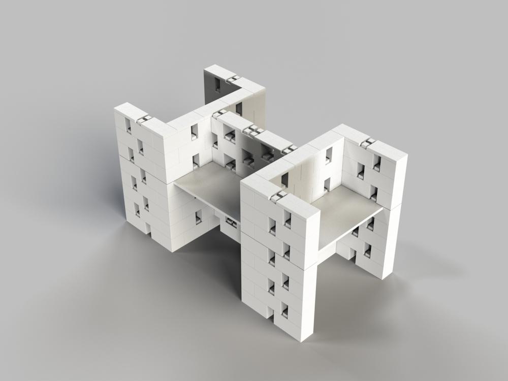 4-fach-Schreibtisch-Kombination offenes Design