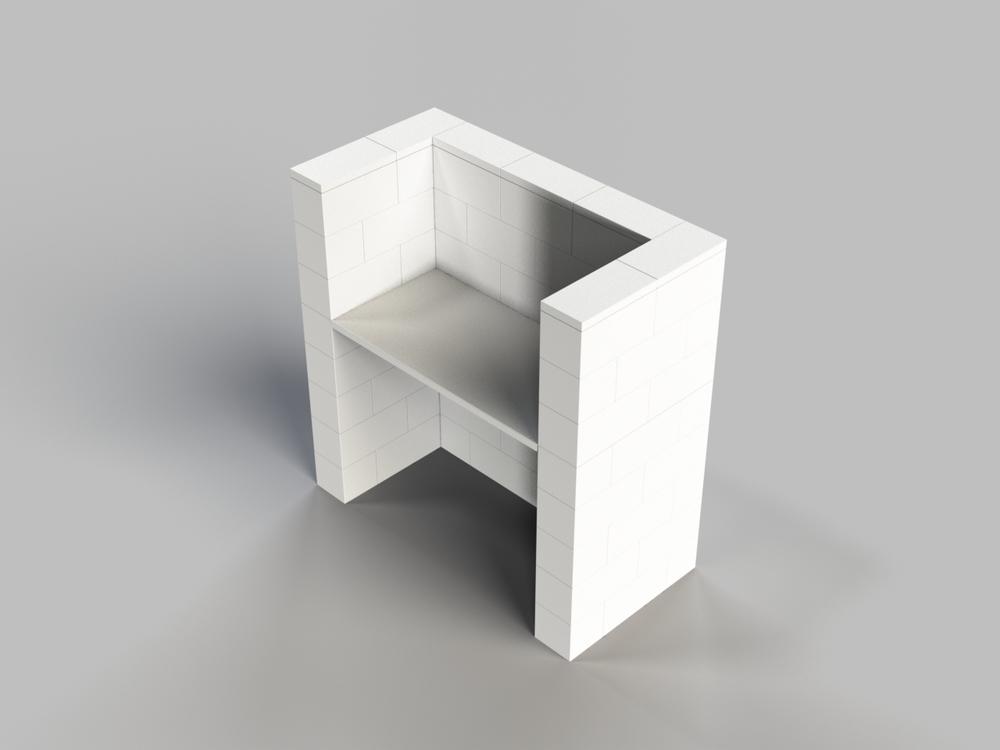 122cm Schreibtisch mit Sichtschutz
