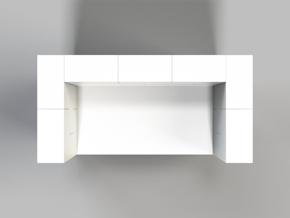 122cm Schreibtisch mit Sichtschutz - Ansicht von oben
