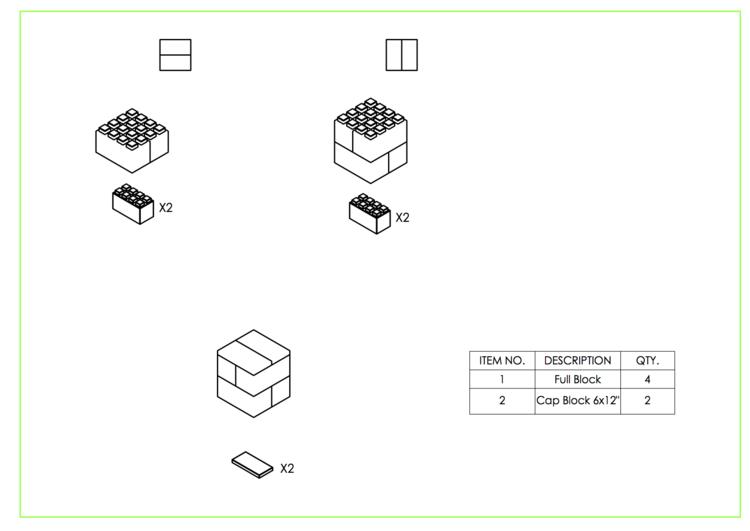 Hocker - 2 Ebenen - Schritt-für-Schritt Anleitung