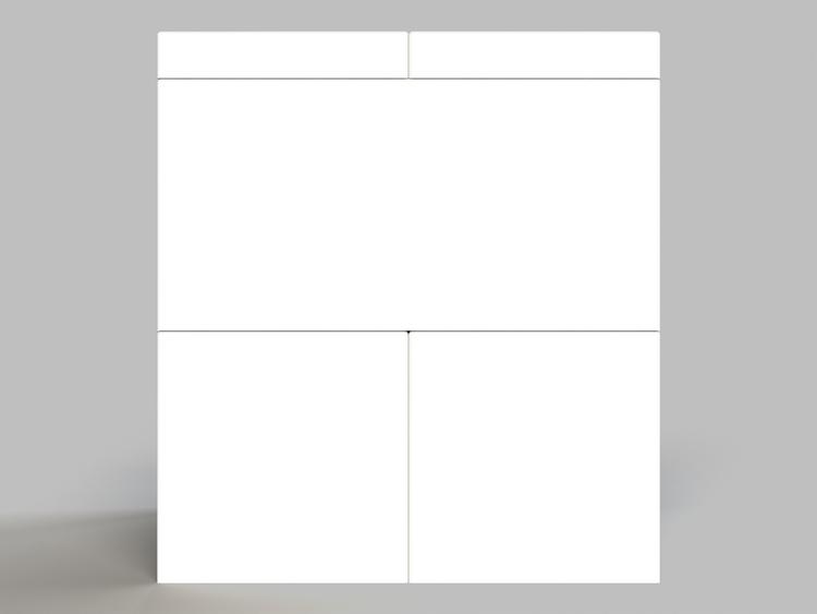 Hocker - 2 Ebenen - Seitenansicht
