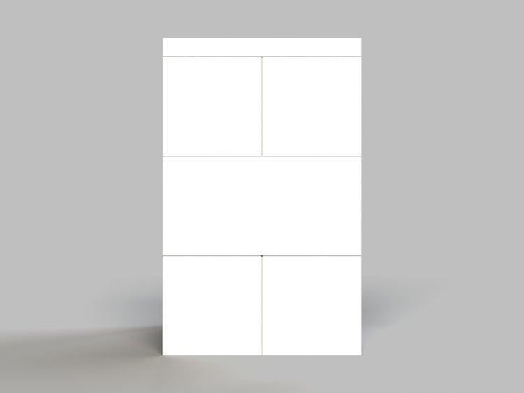 Hocker - 3 Ebenen - Seitenansicht