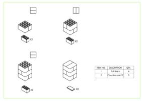 Hocker - 3 Ebenen - Schritt-für-Schritt Anleitung
