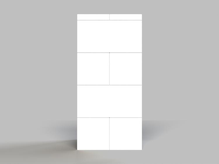 Hocker - 4 Ebenen - Seitenansicht