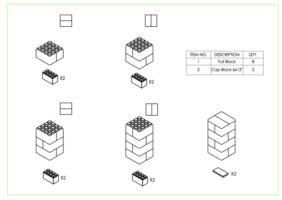 Hocker - 4 Ebenen - Schritt-für-Schritt Anleitung
