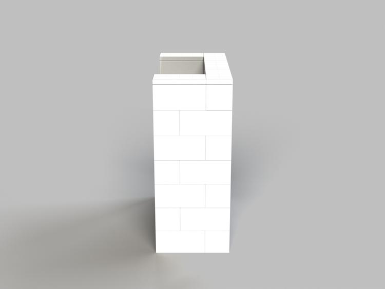 Stehpult, Höhe = 109cm - Seitenansicht