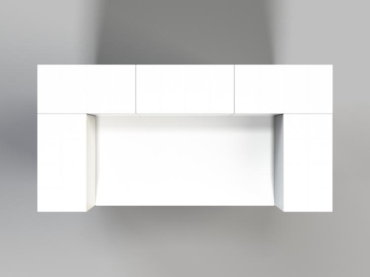 Stehpult, Höhe = 109cm - Ansicht von oben