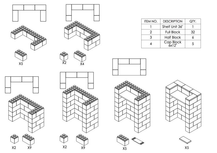 Stehpult, Höhe = 109cm - Schritt-für-Schritt Instruktionen