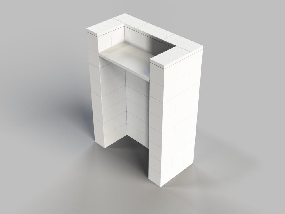 Stehpult, Höhe = 124,5cm