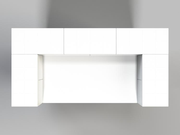 Stehpult, Höhe = 124,5cm - Ansicht von oben