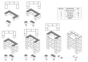 Stehpult, Höhe = 124,5cm - Schritt-für-Schritt Instruktionen