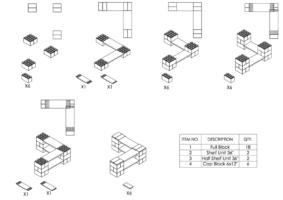 2-Ebenen-ECKREGAL - Typ A - Schritt-für-Schritt Instruktionen