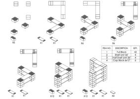 4-Ebenen-ECKREGAL - Typ A - Schritt-für-Schritt Instruktionen