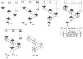 2-Ebenen-DOPPELECKREGAL - Typ A - Schritt-für-Schritt Instruktionen