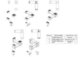 2-Ebenen-ECKREGAL - Typ B - Schritt-für-Schritt Instruktionen