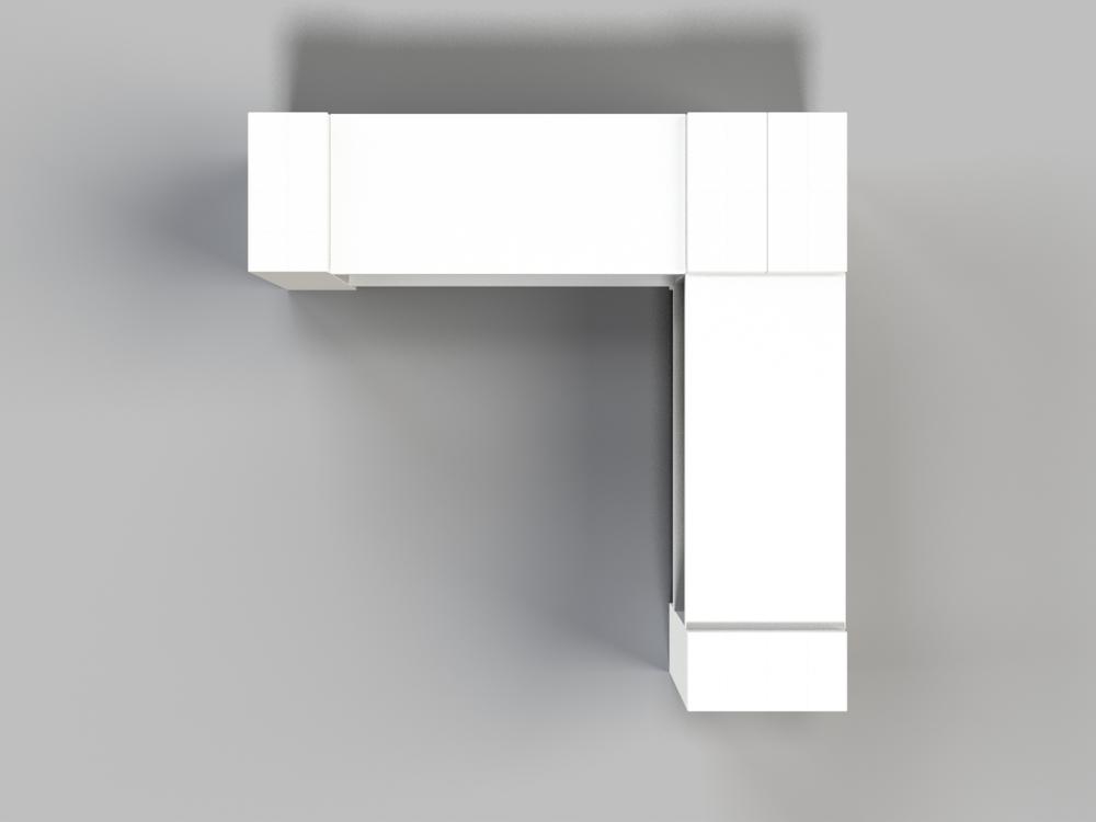 2-Ebenen-ECKREGAL - Typ B - Ansicht von oben