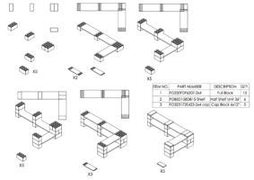 2-Ebenen-DOPPELECKREGAL - Typ B - Schritt-für-Schritt Instruktionen