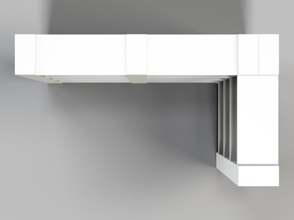 4-Ebenen-Doppel ECKREGAL - Typ B - Ansicht von oben
