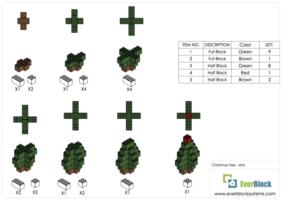 Kleiner Weihnachtsbaum - Schritt-für-Schritt Instruktionen