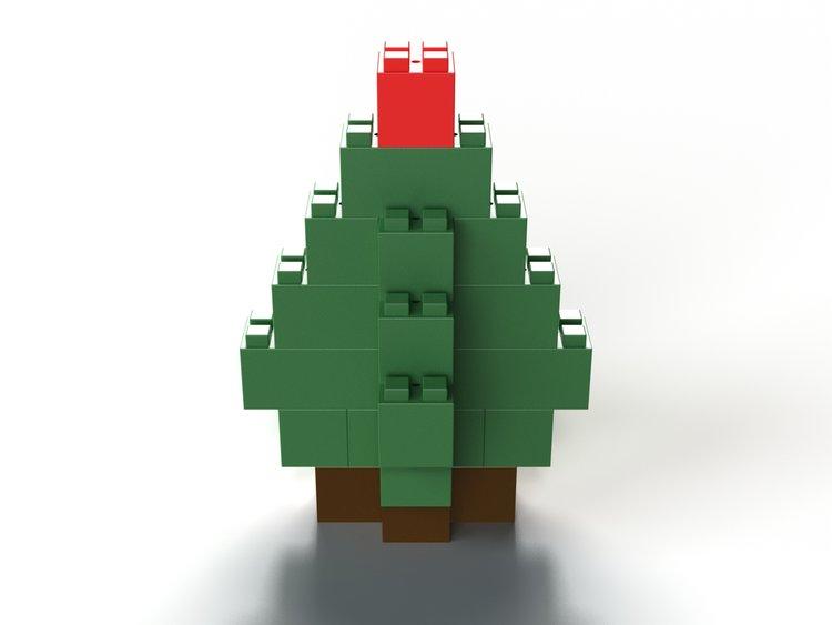 Kleiner Weihnachtsbaum - Seitenansicht