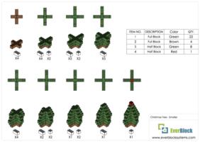 Mittlerer Weihnachtsbaum - Schritt-für-Schritt Instruktionen
