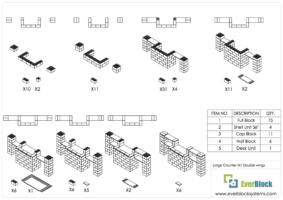 Großer Tresen mit doppelten Seitenflügeln - Schritt-für-Schritt Instruktionen
