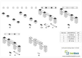 Catering Tisch mit mehreren Ebenen 335cm - Schritt-für-Schritt Instruktionen