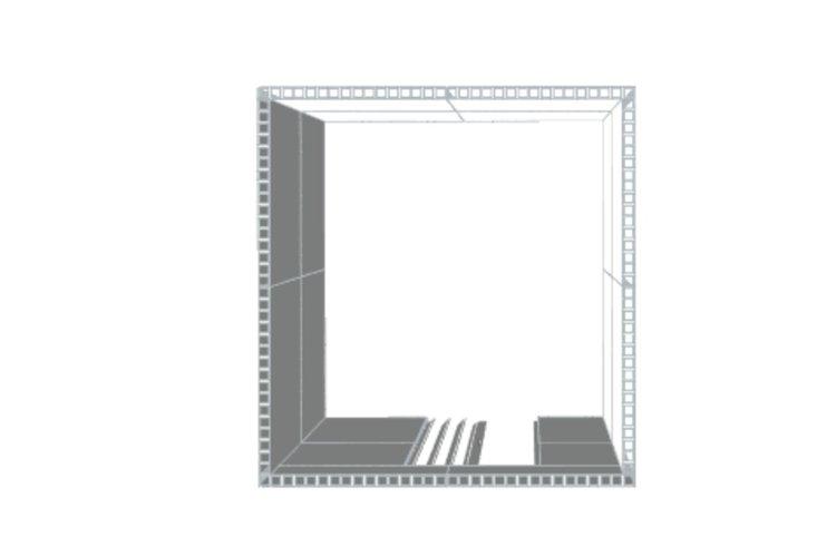 Privatraum - Ansicht von oben