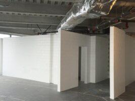 Temporäre oder dauerhafte architektonische Wände. Modellierung für architektonische Bedürfnisse
