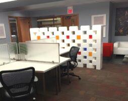 Modulares Schranksystem für Büros