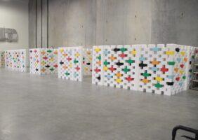 Modulare abnehmbare Wände für verschiedene Räume