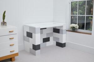 Modularer Schreibtisch: Verwenden Sie EverBlock, um modulare Möbel und DIY-Schreibtische zu erstellen.