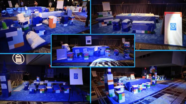 Stellen Sie sich vor, Ihr Team hat seine eigenen Möbel konstruiert und nutzt diese dann für Meetings.