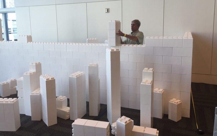 Mit EverBlock® gebaute Ausstellungen: Google Fiber Ausstellung auf ULI 2015 im Moscone Center in San Francisco