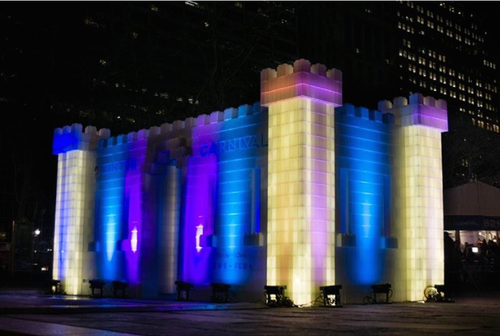 Bauen Sie beeindruckende beleuchtete modulare Strukturen - für drinnen oder draußen