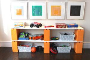 Ideal für die Aufbewahrung von Spielzeug und Regale für Kinderzimmer.