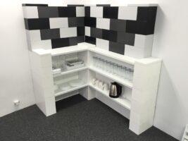 Eckregale: Bauen Sie fantastische L-förmige Regale und modulare Buffeteinheiten.