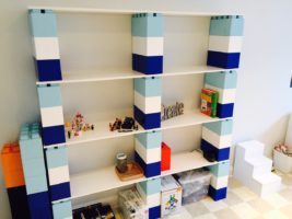 Bunte Bücherregale: Bauen Sie wunderschöne Bücherregale, die einen Hauch von Farbe verleihen