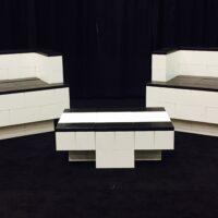 Modulares Wohnzimmer-Set: Bauen Sie fantastische Wohnzimmer-Sets, Ess-Sets, Bars, Tische und andere maßgefertigte Möbel.