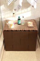 Modulare wasserdichte Möbel: EverBlock ist ideal für Badezimmer, da es wasserdicht ist. Es kann sogar in einer Dusche oder im Poolbereich verwendet werden