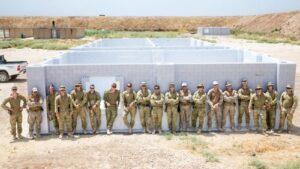 Beachten Sie die ersten beiden von mehreren Gebäuden, die für die Ausbildung in der TAJI-Militärbasis IRAK gebaut werden sollen. Mit freundlicher Genehmigung: Australisches MOD.