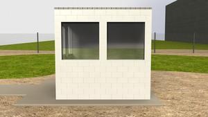 Erstellen Sie temporäre oder semipermanente Schutzhütten, Lagergebäude und Büros und installieren Sie Fenster und Türen wie in einem traditionell errichteten Gebäude.