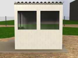 Verwenden Sie die Blöcke drinnen oder draußen für temporäre oder tragbare Bauten wie Schutzhütten, Gerätegehäuse und Leitwarten.